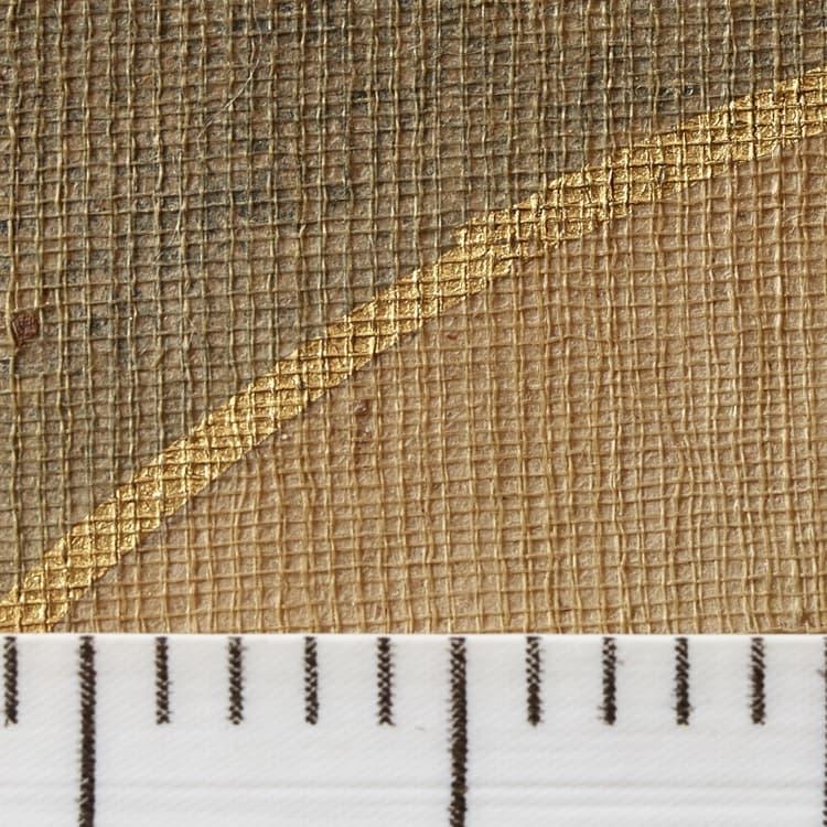 室町時代の仏画ならではの粗い絵絹