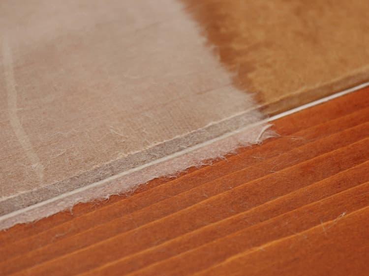 美栖紙は叩かれた分、薄くなります。