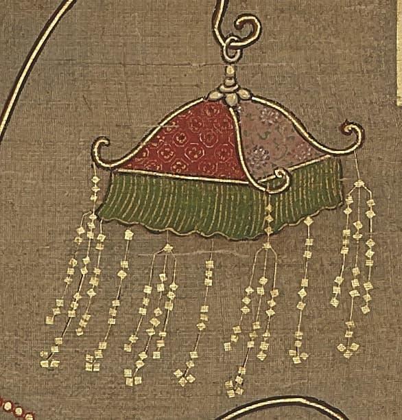 二尊院《二十五菩薩来迎図》分析調査:「北三番」の菩薩が持つ天蓋